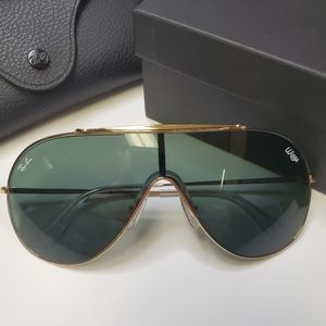 Ray-Ban Pilot Wings Gold with Green Sunglasses